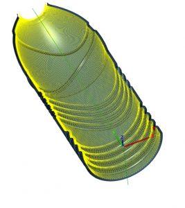 Percorso utensile stampo bottiglia plastica