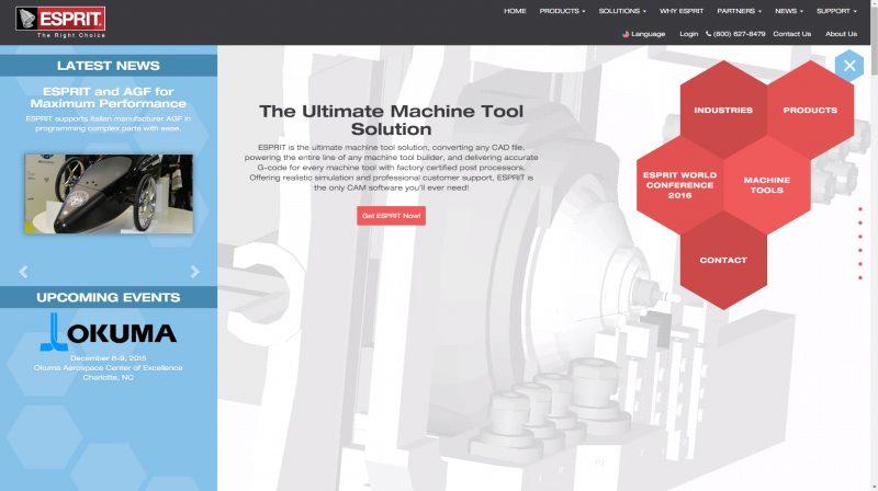 Nuovo sito e nuova immagine per il Cad/Cam Esprit