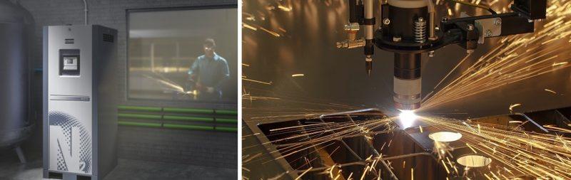 Autoproduzione di azoto puro per tagli laser senza sbavi, con riduzione di costi ed emissioni inquinanti