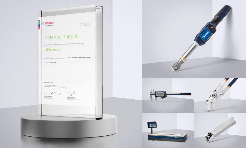 """Hoffmann Group premiato come """"Fornitore Preferito del 2021"""" di Bosch"""