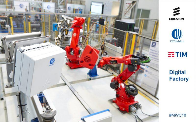Ericsson, TIM e Comau abilitano la fabbrica del futuro con 5G, robotica e machine learning