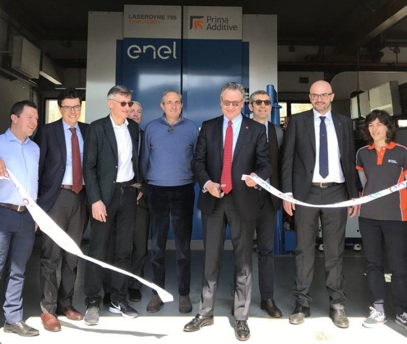 Inaugurata una macchina per produzione additiva presso la centrale Enel di Santa Barbara