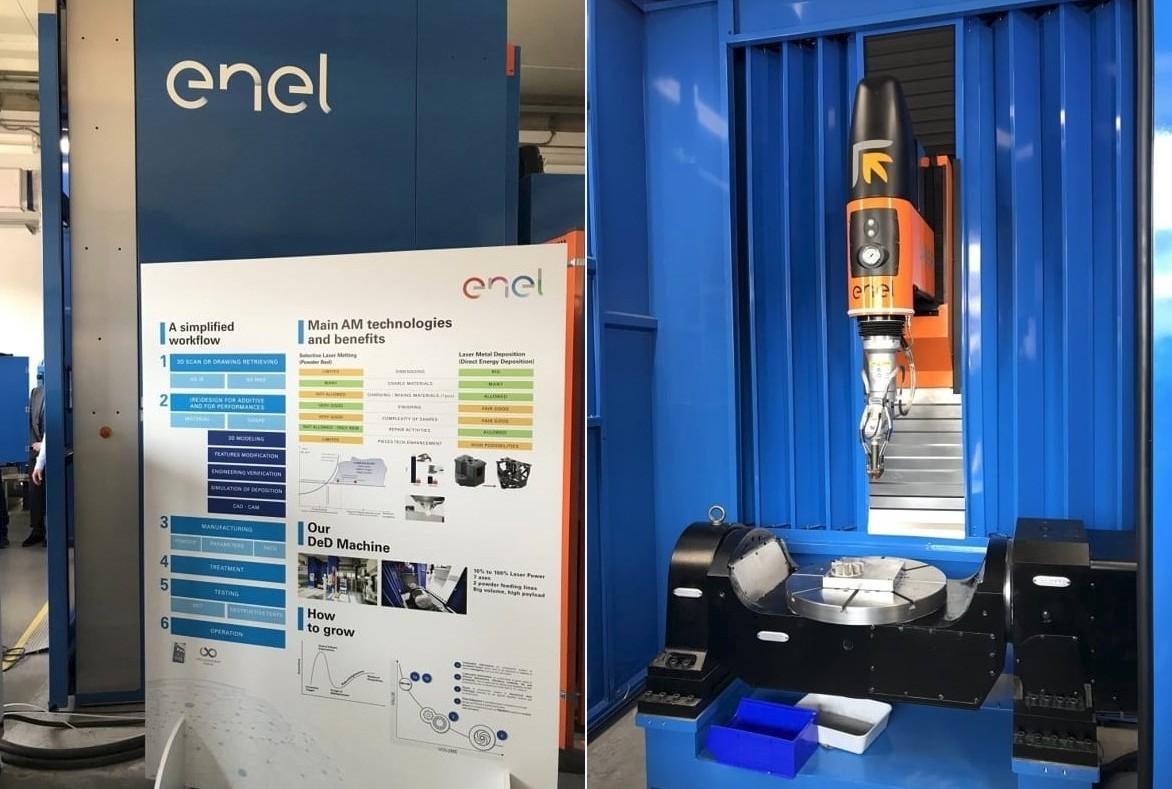 Inaugurata la macchina per produzione additiva Laserdyne 795 di Prima Additive presso la centrale Enel di Santa Barbara