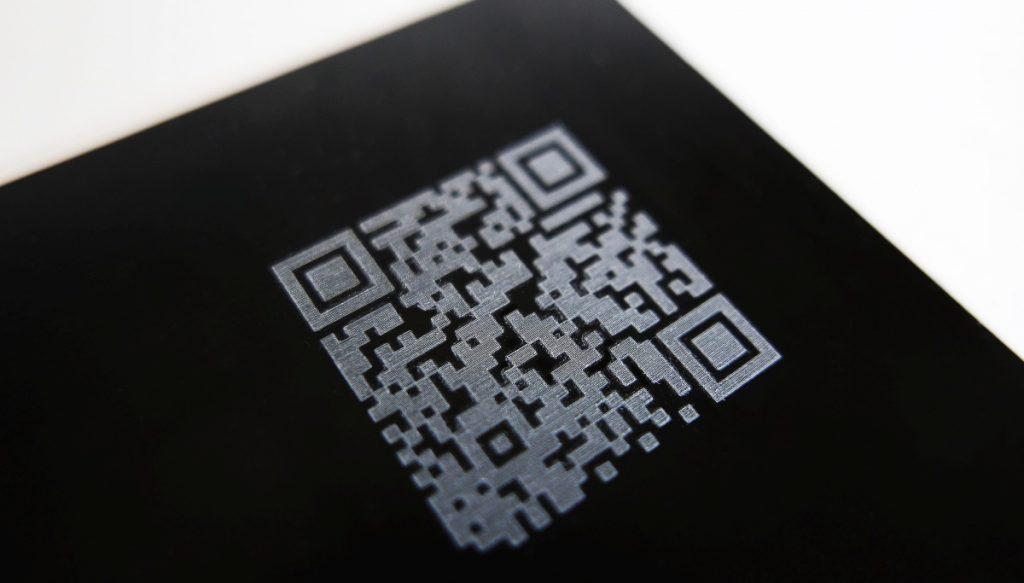 Esempio QR Code con Testa galvanometrica cy-fast mark