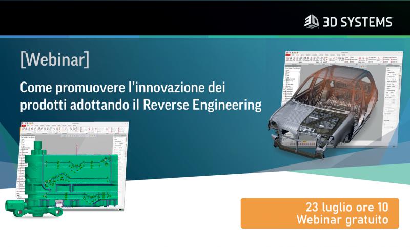 Webinar gratuito: innovare i prodotti con il Reverse Engineering
