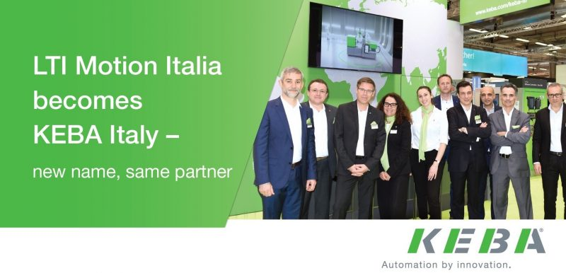 LTI Motion Italia diventa Keba Italy