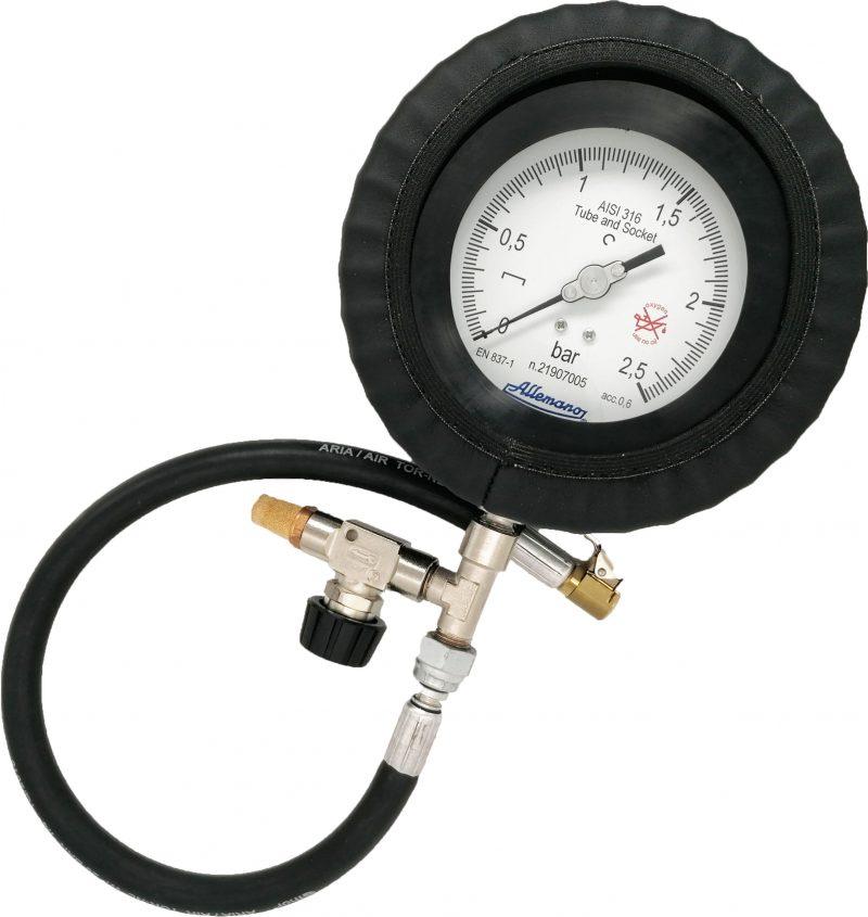 Manometro per prova pressione pneumatici MPPP100 Allemano