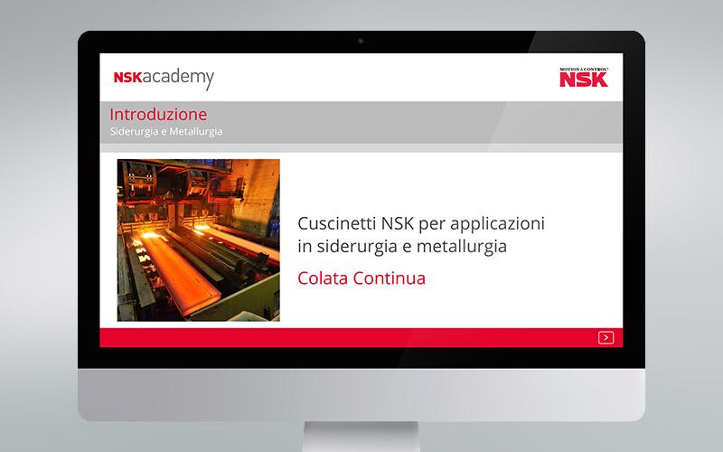 NSK Academy, formazione online sulla colata continua