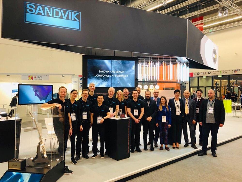 Il team di Sandvik e Beamit al FormNext 2019