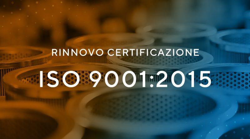 Fai Filtri, nuova certificazione ISO 9001:2015