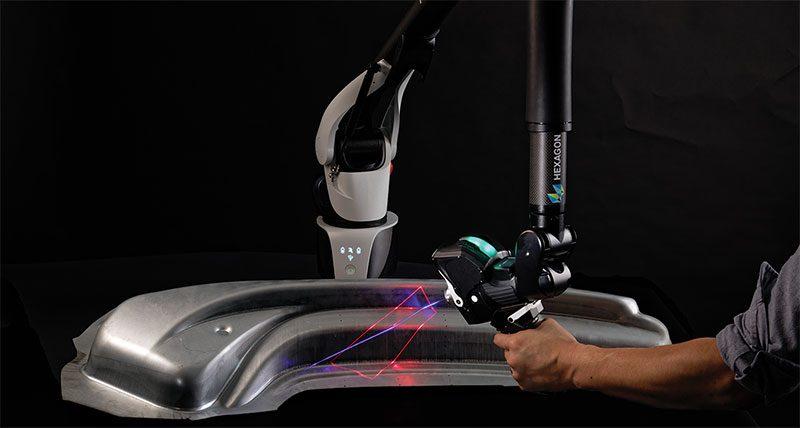 Nuovo scanner laser 3D ad alta produttività per l'Absolute Arm di Hexagon