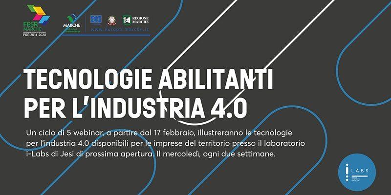 Industria 4.0, un ciclo di 5 webinar gratuiti sulle tecnologie abilitanti