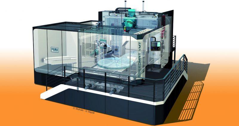 Centro di lavoro verticale VMT3 di Pama